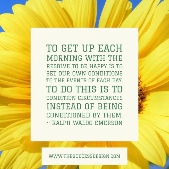 Ralph Waldo Emerson: Resolve to Be Happy